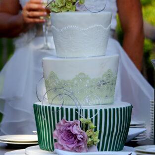 Bruidstaart met bruid Welgelegen Groenlo