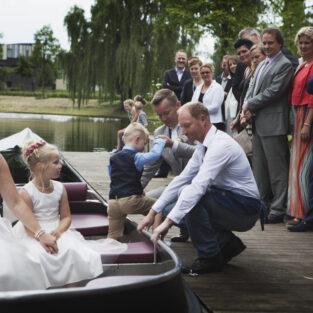 Bruidspaar bootje Welgelegen