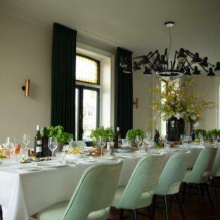 Grachtenkamer ingedekte tafel Welgelegen Groenlo