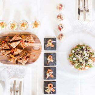 Diner tafel strak detail Welgelegen Groenlo