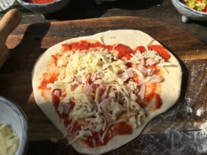 Versierde pizza tuin Welgelegen Groenlo