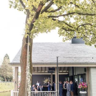 Huwelijksfeest veranda boothuis