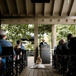 Bruidsmeisje veranda boothuis Welgelegen Groenlo