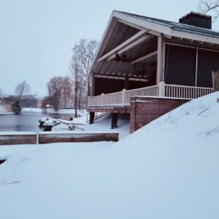 Boothuis Welgelegen Groenlo in de sneeuw